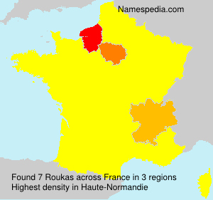 Surname Roukas in France
