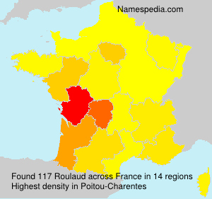 Surname Roulaud in France