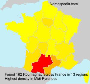 Familiennamen Roumagnac - France
