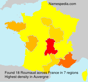 Surname Roumaud in France