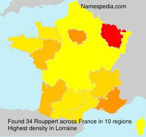 Surname Rouppert in France
