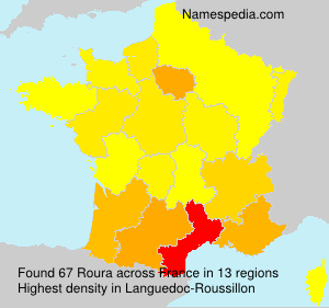 Surname Roura in France