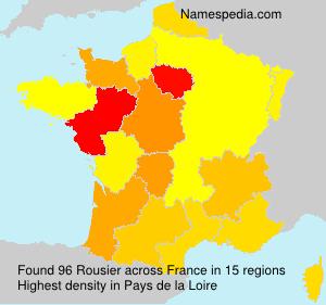 Surname Rousier in France
