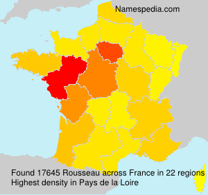 Surname Rousseau in France