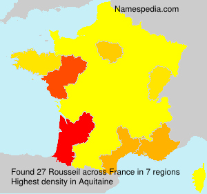 Surname Rousseil in France