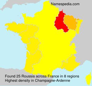 Familiennamen Roussia - France