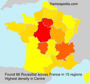 Surname Roussillat in France