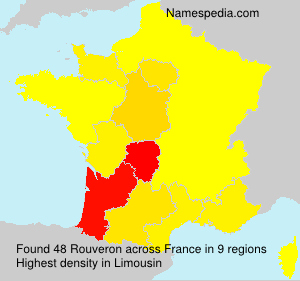 Surname Rouveron in France