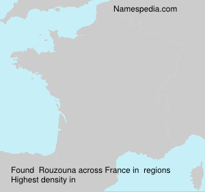Surname Rouzouna in France