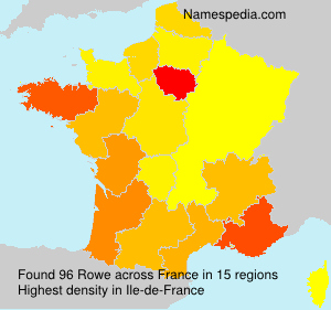 Surname Rowe in France