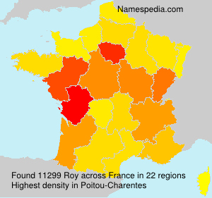 Surname Roy in France