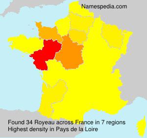 Familiennamen Royeau - France