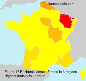 Familiennamen Rozborski - France