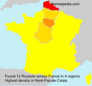 Surname Roziecki in France