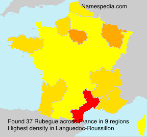 Surname Rubegue in France