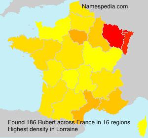 Surname Rubert in France