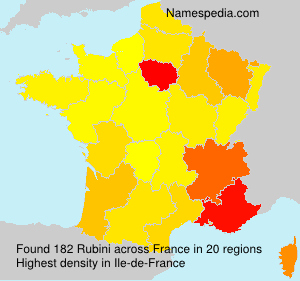 Surname Rubini in France