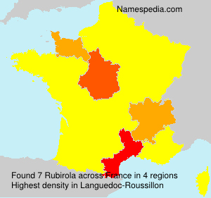 Surname Rubirola in France