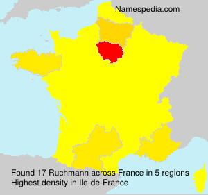 Surname Ruchmann in France