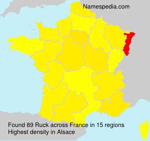 Surname Ruck in France