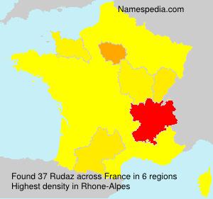 Familiennamen Rudaz - France