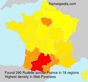 Surname Rudelle in France