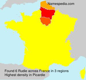 Familiennamen Rudie - France