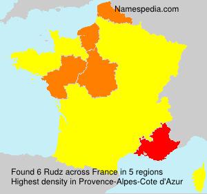 Surname Rudz in France