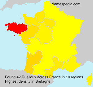 Surname Ruelloux in France