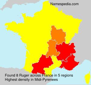 Surname Ruger in France