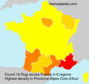Surname Rugi in France