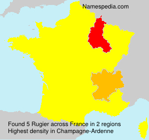 Surname Rugier in France