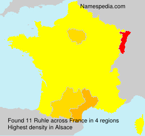 Surname Ruhle in France