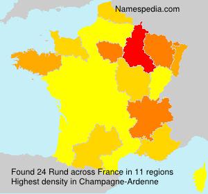 Surname Rund in France
