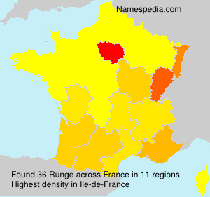 Surname Runge in France