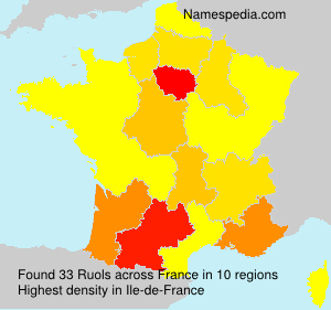 Surname Ruols in France