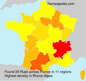 Surname Rupil in France