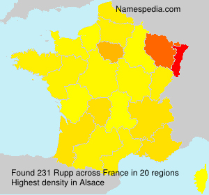 Surname Rupp in France