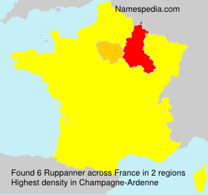 Surname Ruppanner in France