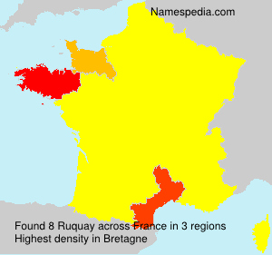 Surname Ruquay in France