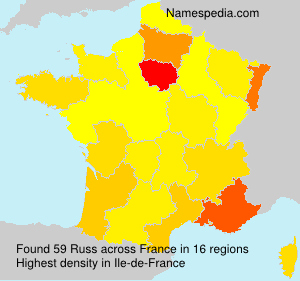 Familiennamen Russ - France