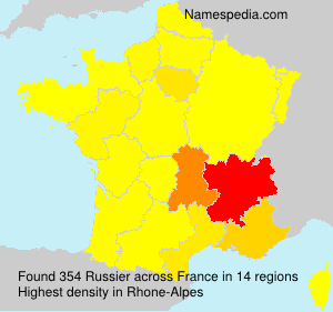 Surname Russier in France