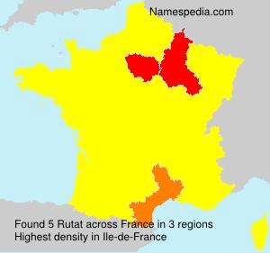 Familiennamen Rutat - France