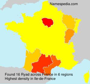 Familiennamen Ryad - France