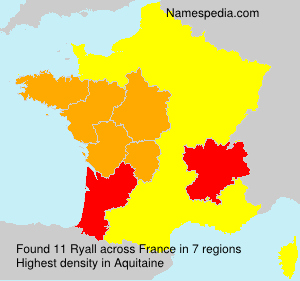 Surname Ryall in France