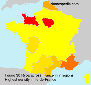 Surname Ryba in France