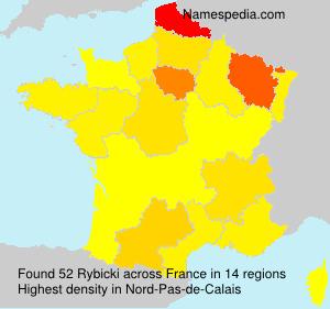 Surname Rybicki in France