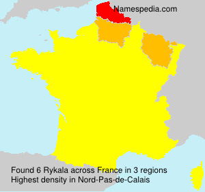 Surname Rykala in France