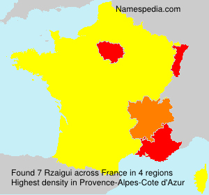Surname Rzaigui in France