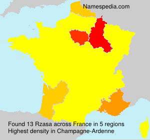 Surname Rzasa in France